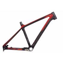 Focus Raven 27.5 Color Negro/rojo Cuadro Fibra De Carbono