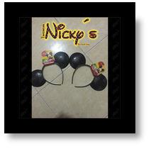 Diadema Orejas De Mickey Mouse Unisex Para Tus Fiestas
