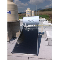 Calentador Solar De Panel Kioto Con Dictamen Hipoteca Verde