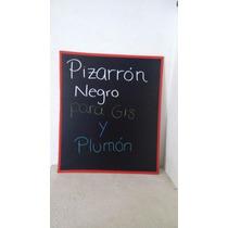 Pizarrón Negro De Pared Con Y Gises Plumón Marco Rojo