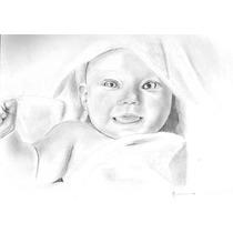 Dibujos A Lápiz (retratos Para Bebes, Mascotas, Etc)