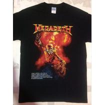 Playera Megadeth, Pago Contra Entrega, Serigrafia