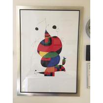 Poster Joan Miro Enmarcado Y Con Cristal De Alta Calidad.