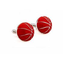 Mancuernillas Balon Basquetbol Basketball Camisa Acero