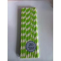 Popote En Papel Vintage 20 Piezas Resistente 20 Cm De Largo