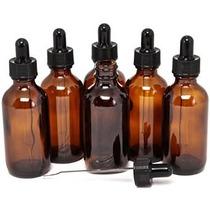 6 Nueva Alta Calidad 2 Oz Botellas Ámbar Vidrio Con Cuentago