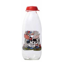 Botella Leche Decorada Cartoon Vaca Milky 1 Litro Prinz