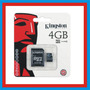 Memoria Micro Sd 4gb Hc Kingston Adaptador Telefonía
