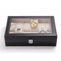 Relojero Organizador Para 10 Piezas Caja Alhajero Elegante