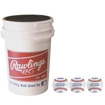 Cubeta Con 3 Docenas De Pelotas De Beisbol Rawlings Rolb1x