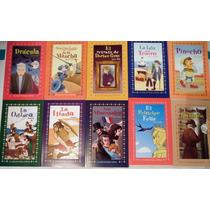 Paquete10 Libros Niños Pinocho Dracula Iliada Odisea Isla Te