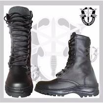 Botas Militares Tácticas, Alta Estilo Swat De Piel,armystore