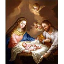 Lienzo Tela La Natividad Jose Campeche Arte Sacro 50 X 65 Cm