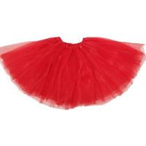 Ballet Básica Tutu - 3 Capas De Tul - Rojo