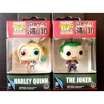 Llévate 2 Llaveros Funko Pop Suicide Squad Harley Y Joker