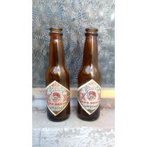 Bellas Botellas D Cerveza Dos Equis En Miniatura Color Ámbar
