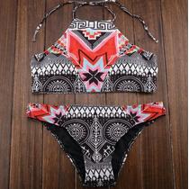 Hermoso Bikini Mujer Étnico, Traje De Baño Mujer Triangulo
