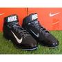 Spike Nike Air Huarache Pro Mid Metal / Negro 9 Mx - 11 Us