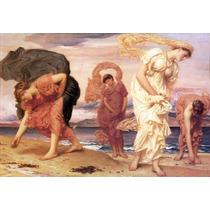 Lienzo-tela, Chicas Griegas, Frederic Leighton 60 X 90 Cm