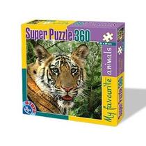 D-toys Súper Tiger Animales Salvajes - Jigsaw Puzzle 360 Pi