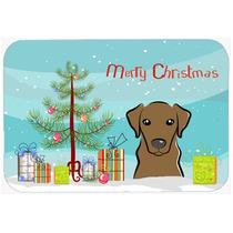 Árbol De Navidad Y De Labrador Del Chocolate Cocina O Baño