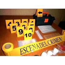 Kit Forense/criminalística De Campo/dactiloscopia/
