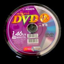 10 Mini Dvd-r Ridata Virgen Mini Torre 30 Minutos 1.46 Gb