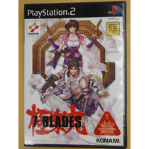 Playstation Ps2 7 Blades Videogame Japones Anime Accion