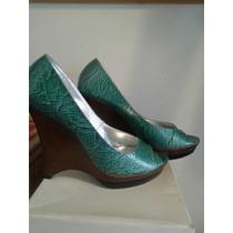 Zapatos Mujer Plataformas Cocodrilo Altas 10 Cm 26 1/2
