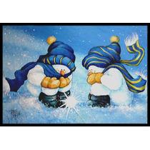 Nosotros Creemos En La Magia Muñeco De Nieve Mat Interiores
