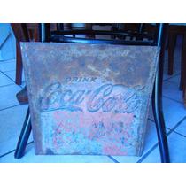 Letrero De Coca Cola Al Alto Relieve En Lamina De Fierro