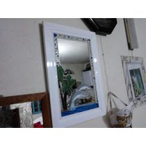 Espejo Tecnica Vitromosaico Tres Alegres Delfines Unico