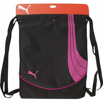 Morral Mochila Puma, Color Negro Con Rosa, Carrysack Gym!