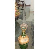 Licorera De Cristal De Bohemia Hoja De Oro Antigua Excelent