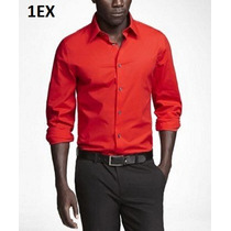 M - Camisa Express Roja Ropa De Hombre 100% Original