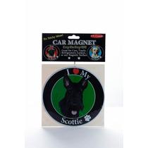 Iman Para Refrigerador Circular O Huellitas Scottish Terrier