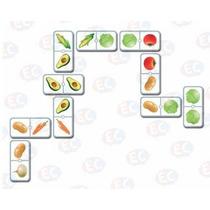 Edu-134 Domino De Verduras Educativo 28 Piezas 4+ Eduplas