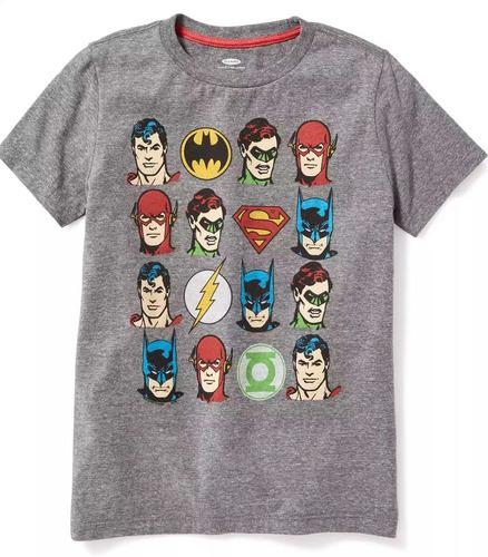b87083ad099 Playera Liga De La Justicia Superman Batman Niño Old Navy en venta ...