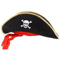 Sombrero Pirata Fiesta Boda Xv Disfraz Pirata Calavera