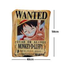 Almohada One Piece Luffy Cartel Wanted De Excelente Calidad