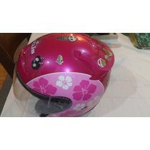 Casco Moto Rosa Dama Talla M Marca Zeus Dot