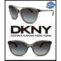 Lente Solar Gafas Dkny Dy4138 Grey Crystal - Grey Gradient