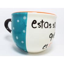 Súper Tazas Artesanales Diseño 600 Ml Tazotas Ceramica Est1