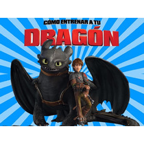 Kit Imprimible Como Entrenar A Tu Dragon Diseña Tarjetas 2x1