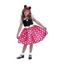 Niño Minnie Mouse Del Traje De Halloween (tamaño: Mediano 4-