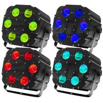 Paquete Iluminacion Con 4 Cubos De 6 Cañones Rgb Led Xaris .