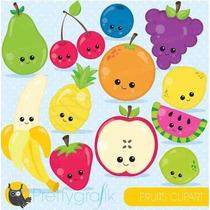 Kit Imprimible Frutas Imagenes Clipart