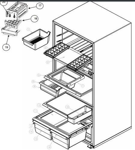 cajon para refrigerador whirlpool wrt18  780 crhxg