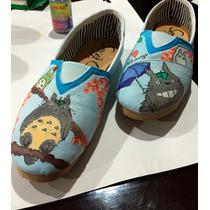 Tenis Personalizados,totoro,hecho A Mano,zapatos Con Diseño