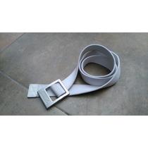 Cinturon Puma En Tela Hebilla Grabada Unitalla Color Blanco